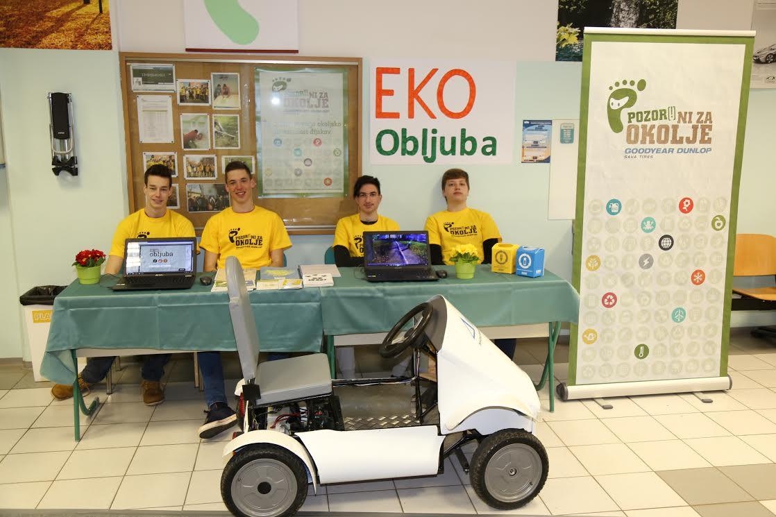 Zbiranje EKO obljub na informativnem dnevu šole